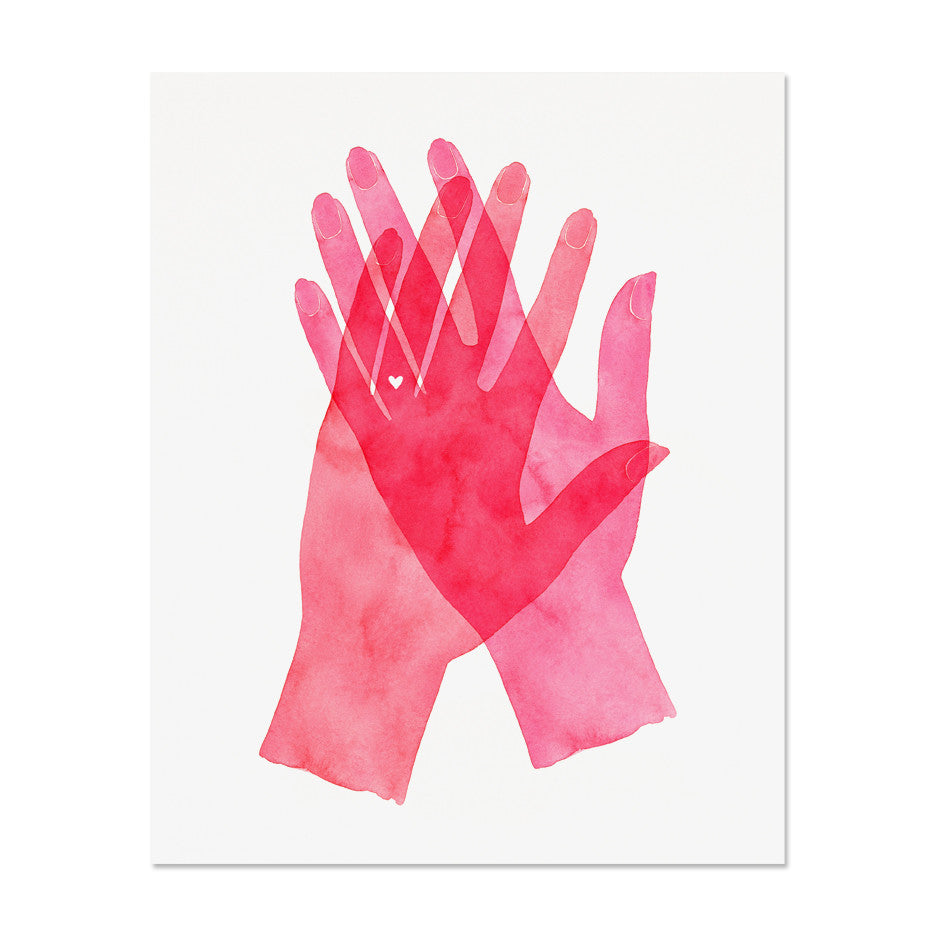 Mrs. & Mrs. Hands Art Print