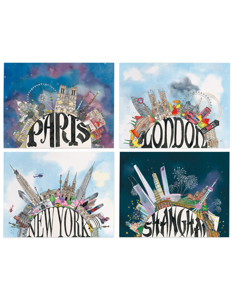 Assorted Cities Card Set