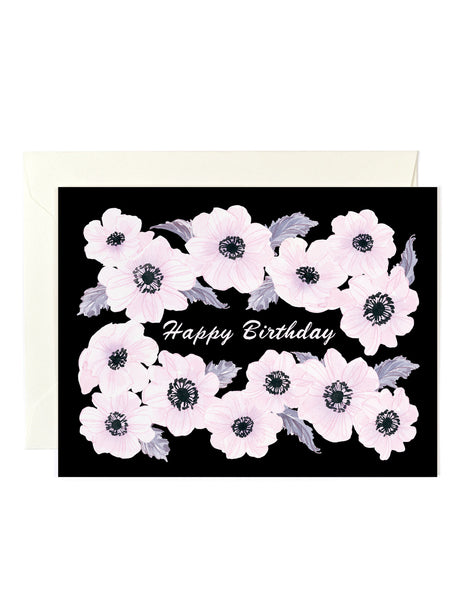 Happy Birthday Anemones Card