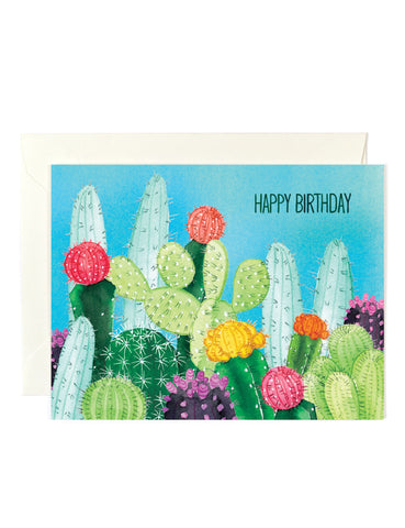 Happy Birthday Cacti Card