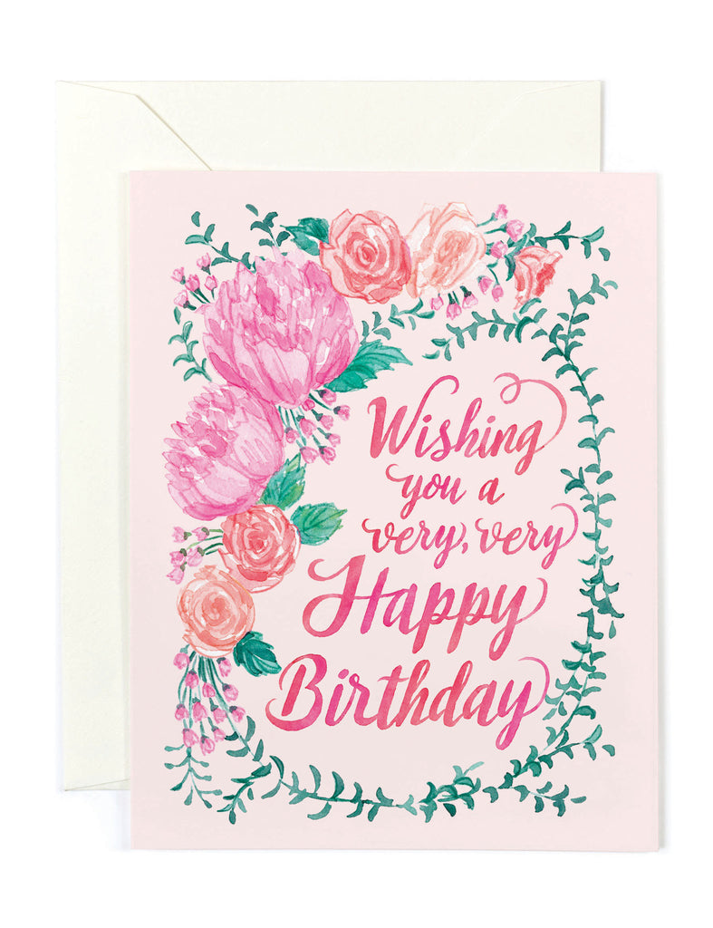 Whishing Happy Birthday Card