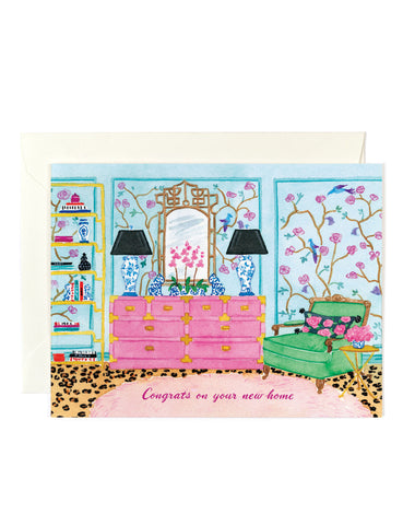Congrats New Home Glam Card