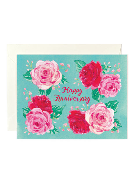 Happy Anniversary Mint Card