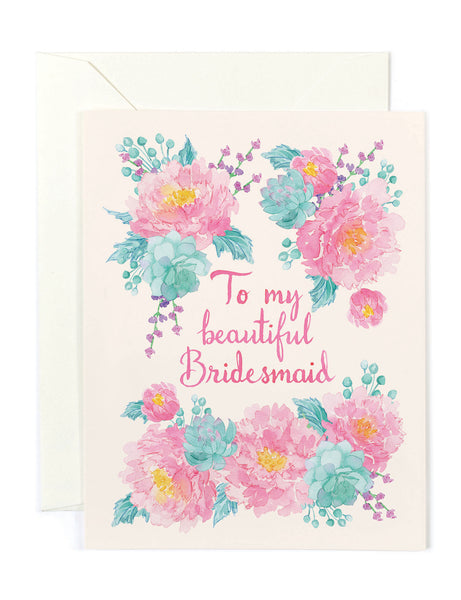 Beautiful Bridesmaid Card