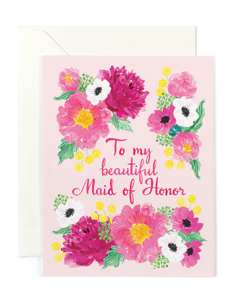 Beautiful Maid of Honor Card