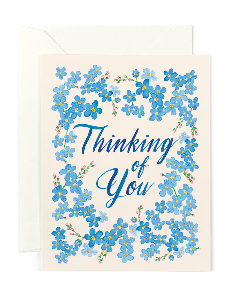 Thinking of You Forget Me Nots Card