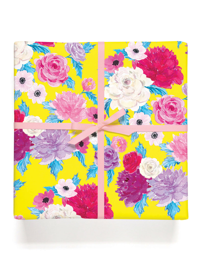 Happy Floral Gift Wrap