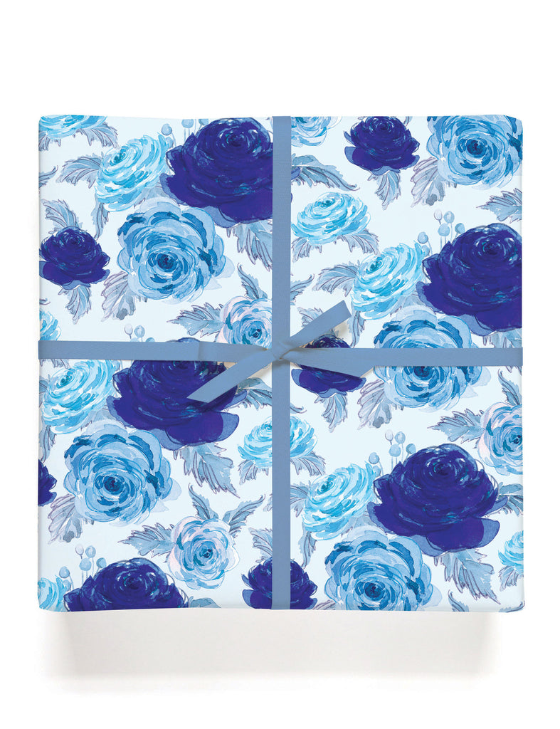 Rosa Blue Gift Wrap
