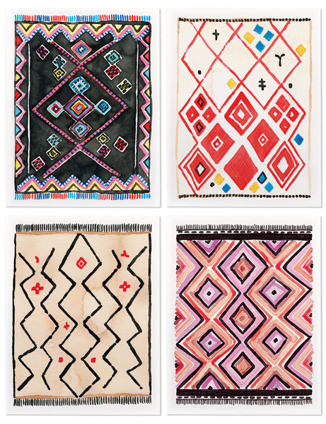 Assorted Kilim Rug Card Set