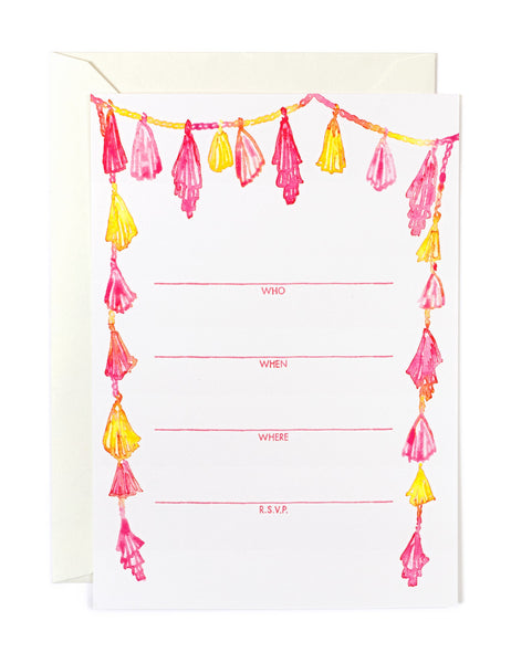 Pink Tassel Invitations