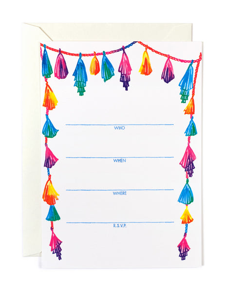Rainbow Tassel Invitations