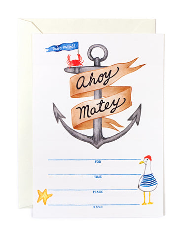 Ahoy Matey Invitations