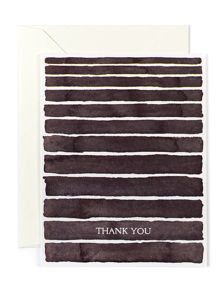 Black Stripes Thank You Card