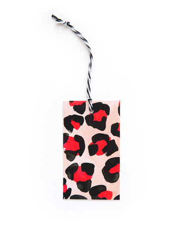 Red Leopard Everyday Tags