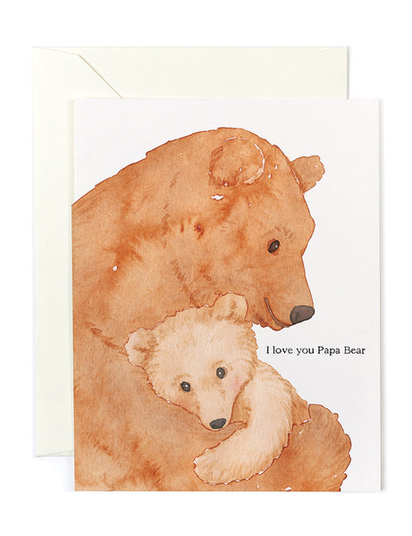 I Love You Papa Bear Card
