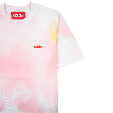 032C Cosmic Workshop Tie-Dye Printed Tee (Pink)