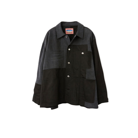 ACNE STUDIOS Blå Konst Mathers Recrafted Overshirt (Black/Grey)