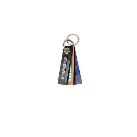 ACNE STUDIOS Lenticular Mixed Material Keyring (Purple/Green)