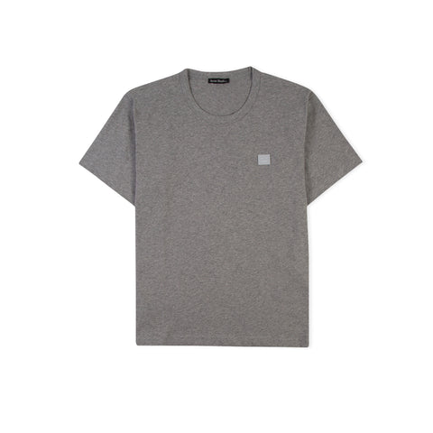 ACNE STUDIOS Face Nash Tee (Light Grey Melange)