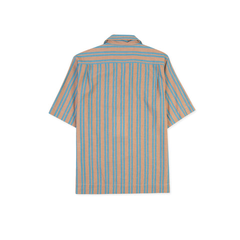 ACNE STUDIOS Simon Str Tex Shirt (Brown/Turquoise)