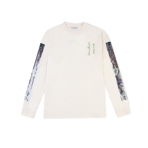 ACNE STUDIOS Jaceye Video Long-Sleeve Tee (Ecru Beige)