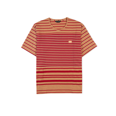 ACNE STUDIOS Face Elvin Stripe Tee (Dusty Orange)