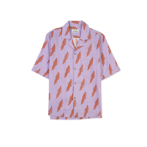 ACNE STUDIOS Simon Diag W Shirt (Pink/Ginger Orange)