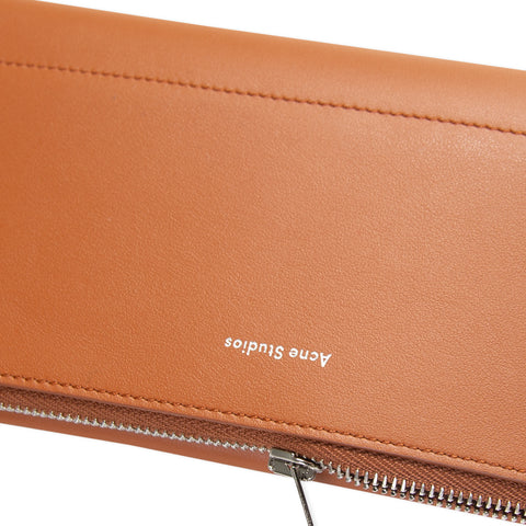 ACNE STUDIOS Continental Fold Wallet (Cognac Brown)