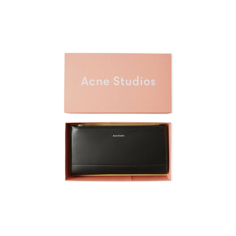 ACNE STUDIOS Continental Fold Wallet (Black)