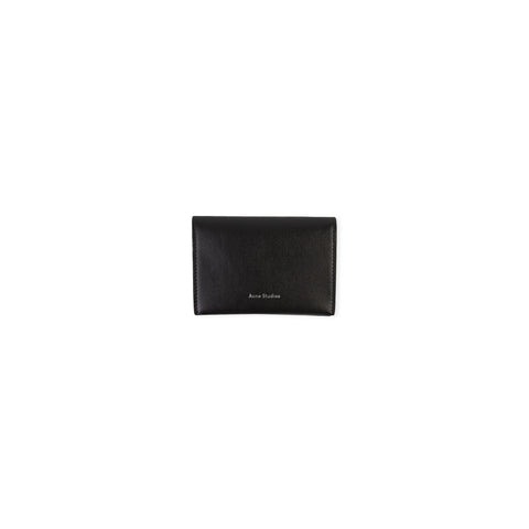 ACNE STUDIOS Flap Card Holder Wallet (Black)