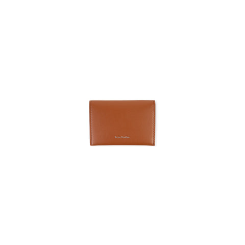 ACNE STUDIOS Flap Card Holder Wallet (Cognac Brown)