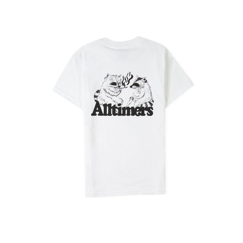 ALLTIMERS Racoons Smoking Pot Tee (White)