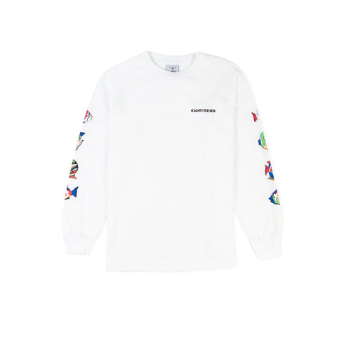 ALLTIMERS Deep Sea Long-Sleeve Tee (White)