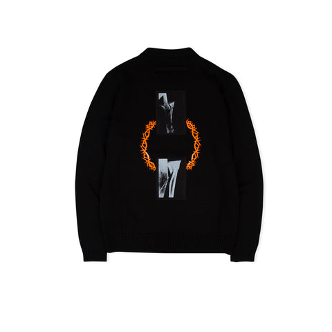 1017 ALYX 9SM Thorn Wool Sweater (Black)