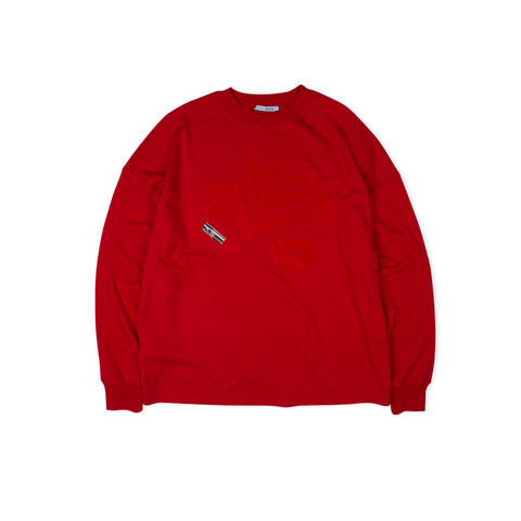 1017 ALYX 9SM Somebody in California LS Tee (Red)