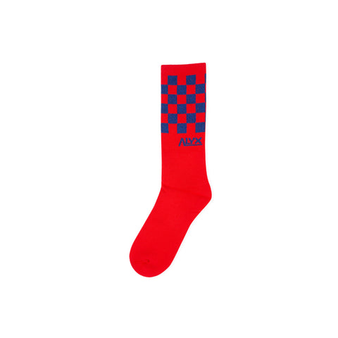 1017 ALYX 9SM Checker Socks (Red)