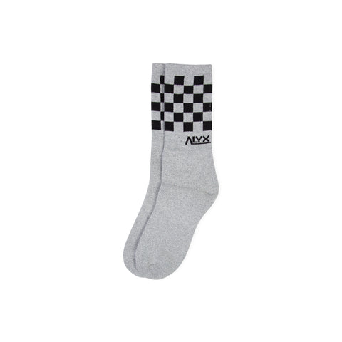 1017 ALYX 9SM Checker Socks (Silver)