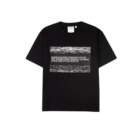 CALVIN KLEIN EST. 1978 Static Flag Logo Tee (Black Beauty)