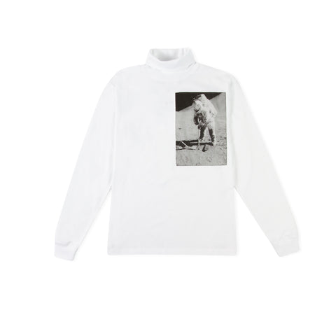 CALVIN KLEIN EST. 1978 Moon Landings Roll Neck Long-Sleeve Tee (Brilliant White)