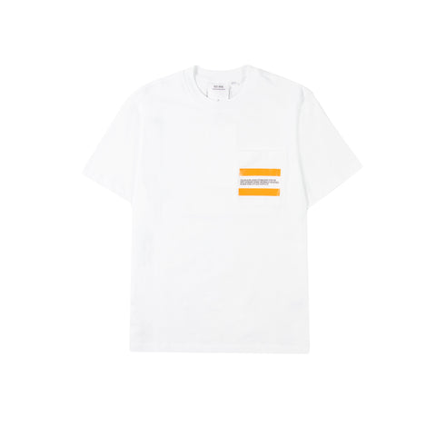 CALVIN KLEIN EST. 1978 Flag Logo Pocket Tee (Brilliant White)