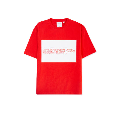 CALVIN KLEIN EST. 1978 Flag Logo Tee (Red/White)