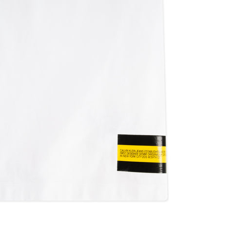 CALVIN KLEIN EST. 1978 Small Flag Logo Tee (White/Black/Yellow)