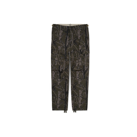 CARHARTT WIP Aviation Pant (Camo Tree Green Rinsed)