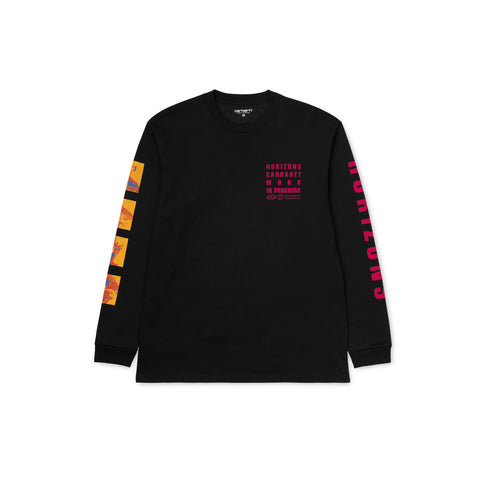 CARHARTT WIP Long-Sleeve Horizon Tee (Black)