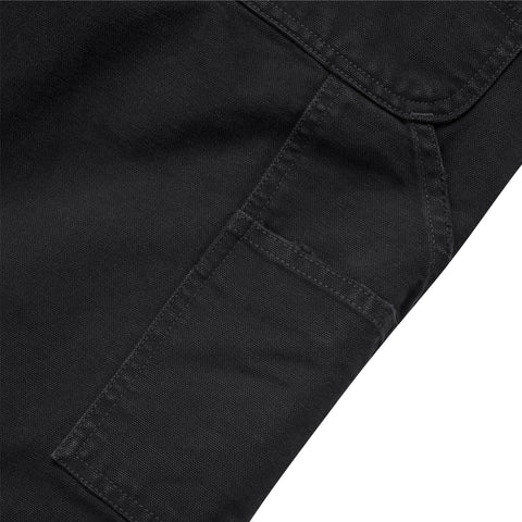 CARHARTT WIP Single Knee Pant (Black Aged Canvas)