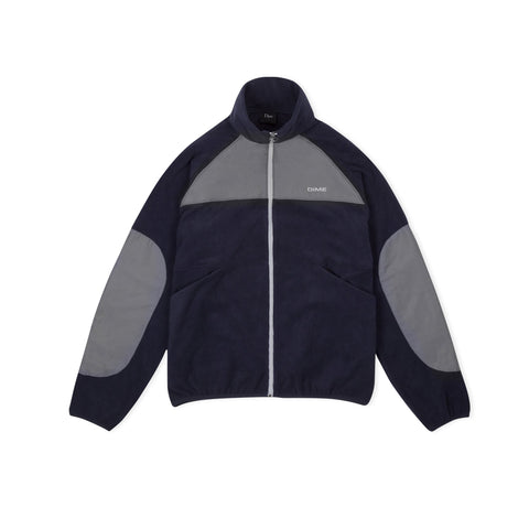 DIME Polar Fleece Track Jacket (Navy/Charcoal)