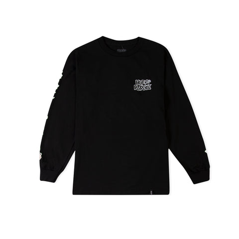 HUF x POPEYE Smokestack Long-Sleeve Tee (Black)
