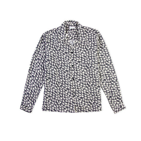 JOHN ELLIOTT Smoking Shirt (Cadet/Ivory)