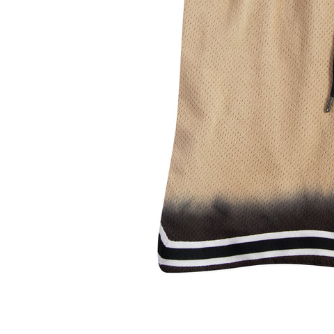 JOHN ELLIOTT Dip Dye Basketball Shorts (Gold/Black)