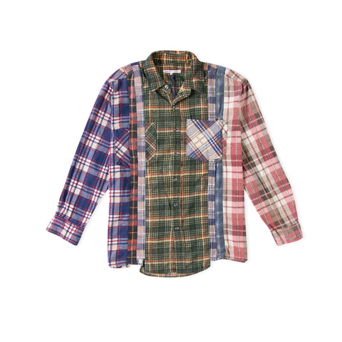 NEEDLES 7 Cuts Flannel Shirt (Assorted) - Size Large
